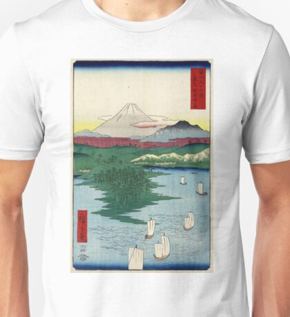 Noge Yokohama In Musashi Province - Hiroshige Ando - 1858 - woodcut Unisex T-Shirt