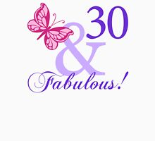 Fabulous 30th Birthday Womens Fitted T-Shirt