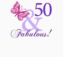 Fabulous 50th Birthday Womens Fitted T-Shirt