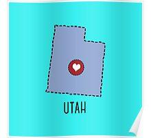 Utah State Heart Poster