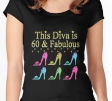 SIZZLING 60 YR OLD DIVA Women's Fitted Scoop T-Shirt