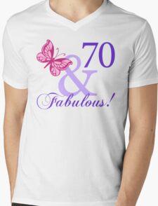 Fabulous 70th Birthday Mens V-Neck T-Shirt