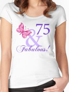 Fabulous 75th Birthday Women's Fitted Scoop T-Shirt