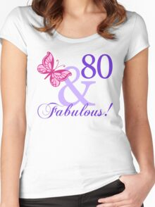Fabulous 80th Birthday Women's Fitted Scoop T-Shirt