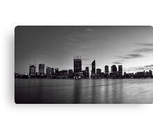 Perth Sunrise in Mono Canvas Print