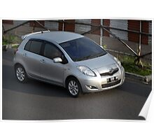 silver colored toyota yaris Poster