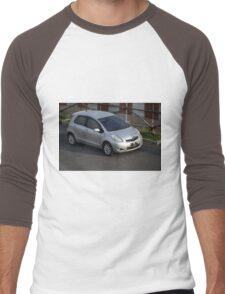 silver colored toyota yaris Men's Baseball ¾ T-Shirt