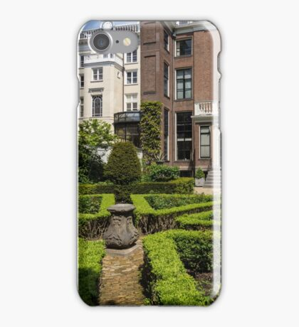 Formal Garden - Sculpted Boxwood Hedges and Period Facades iPhone Case/Skin