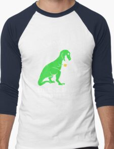 I Have A Drinking Problem T-Rex Dinosaur Men's Baseball ¾ T-Shirt