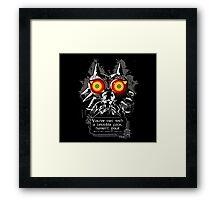 Mask Majoras Framed Print