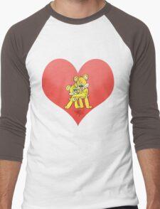 Two hugging bears, on a love heart. Men's Baseball ¾ T-Shirt