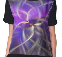 Purple Gold Colored Abstract. Concept Spirituality Chiffon Top