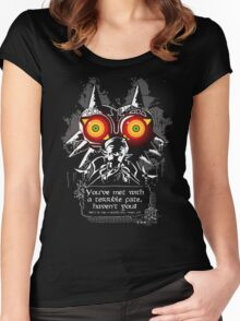 Mask Majoras Women's Fitted Scoop T-Shirt