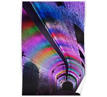 Colourfull tunnel Poster