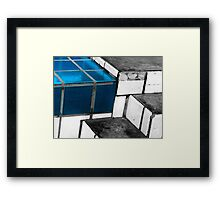 Blue Step Framed Print