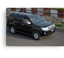 black colored toyota fortuner Canvas Print