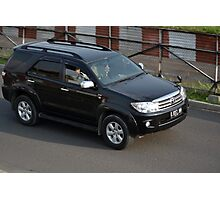 black colored toyota fortuner Photographic Print