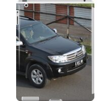 black colored toyota fortuner iPad Case/Skin
