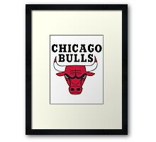 chicago bulls logo Framed Print