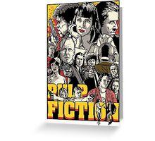 -TARANTINO- Pulp Fiction Poster Style Greeting Card
