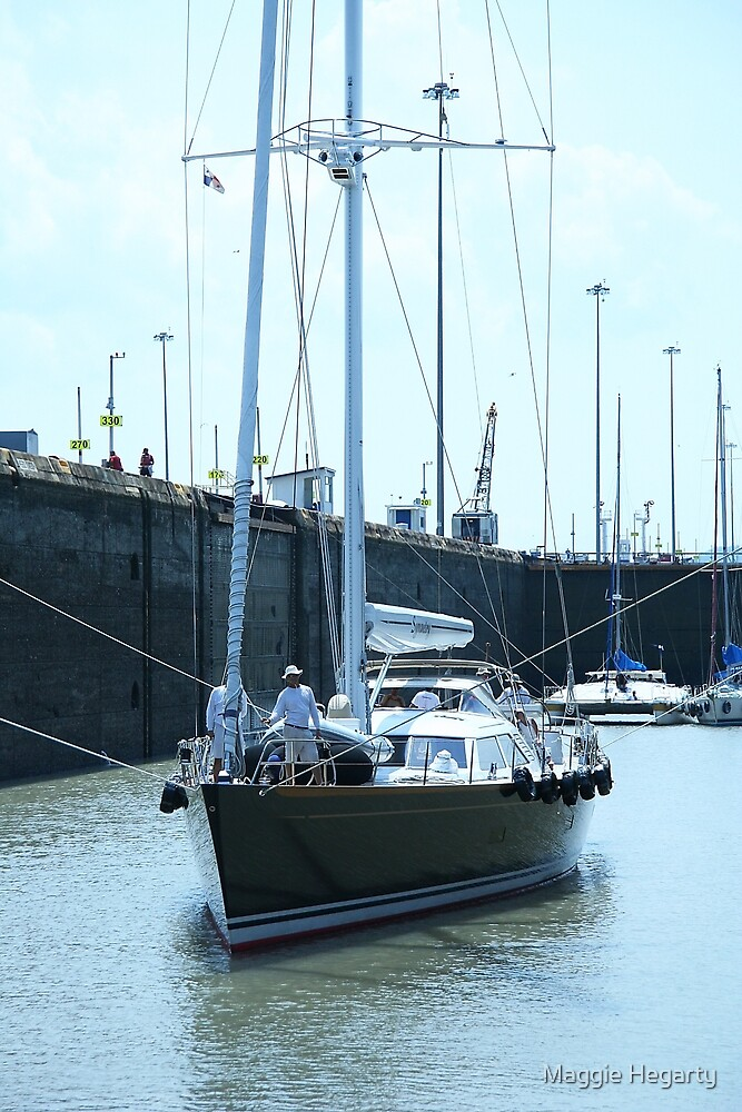 Going through Miraflores Locks, Panama Canal by Maggie Hegarty