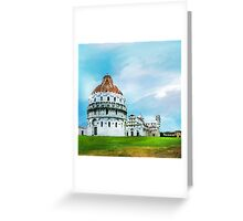 Watercolor painting of Pisa, Italy Greeting Card