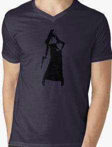 Gun totting nun! Mens V-Neck T-Shirt