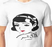 Retro ennui Japanese woman  Face Cream AD   1937years  Unisex T-Shirt