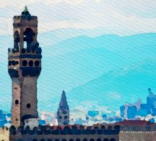 Watercolor painting of Florence, Italy Sticker