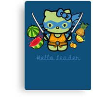 Hello Ninja Turtle Leader Canvas Print