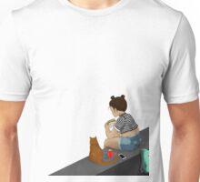 The Girl and the Cat Unisex T-Shirt