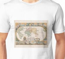 Vintage Map of The World (1681) Unisex T-Shirt