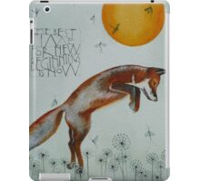 The best time for new beginnings iPad Case/Skin