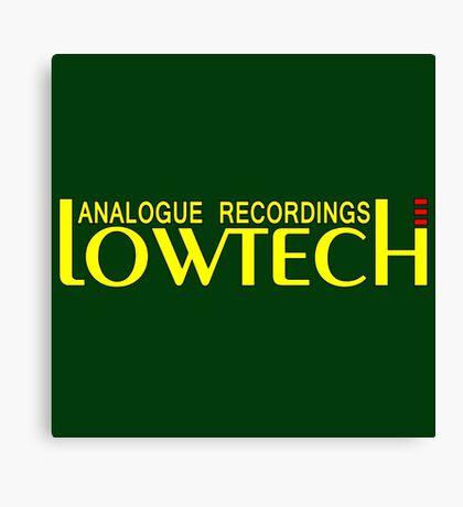 Lowtech analogue recordings yellow Canvas Print
