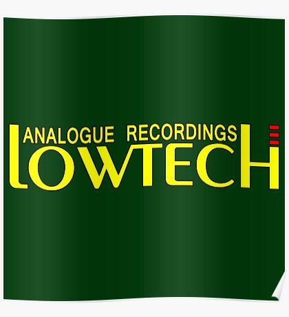 Lowtech analogue recordings yellow Poster