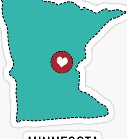 Minnesota State Heart Sticker
