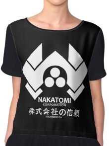 NAKATOMI PLAZA - DIE HARD BRUCE WILLIS (WHITE) Chiffon Top