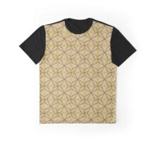 Pattern with geometric ornament. Creative vector star. Background with abstract snowflakes Graphic T-Shirt