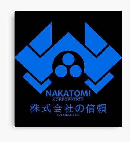 NAKATOMI PLAZA - DIE HARD BRUCE WILLIS (BLUE) Canvas Print