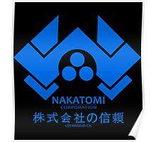 NAKATOMI PLAZA - DIE HARD BRUCE WILLIS (BLUE) Poster