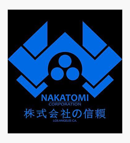 NAKATOMI PLAZA - DIE HARD BRUCE WILLIS (BLUE) Photographic Print