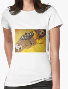 Butterfly Taxi Womens Fitted T-Shirt