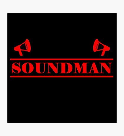 Soundman red Photographic Print
