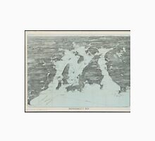 Vintage Pictorial Map of Narragansett Bay (1907) Unisex T-Shirt