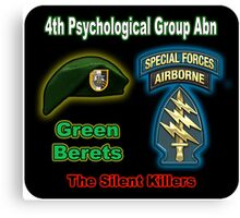 4th Psychological Group (Abn) Canvas Print