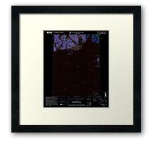 USGS TOPO Map Alaska AK Cordova C-7 355201 2000 63360 Inverted Framed Print
