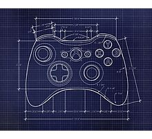 XBOX 360 Controller Top Blue Print Photographic Print