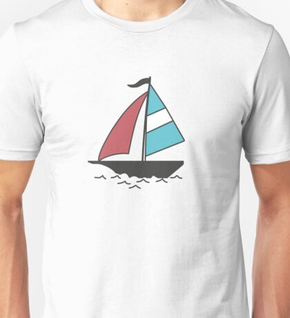 Color boats Unisex T-Shirt
