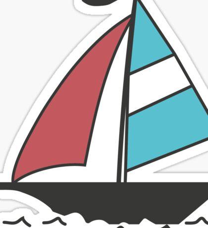 Color boats Sticker