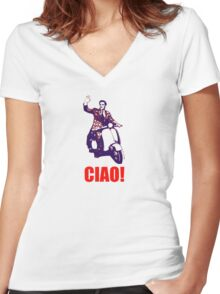 Ciao! Women's Fitted V-Neck T-Shirt